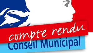 Compte-rendu du conseil municipal