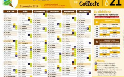 NOUVEAUTÉ : CALENDRIER DE COLLECTE 2nd SEMESTRE 2021