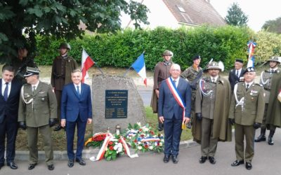 Cérémonie de commémoration, samedi 21 août matin – Stèle des soldats Polonais